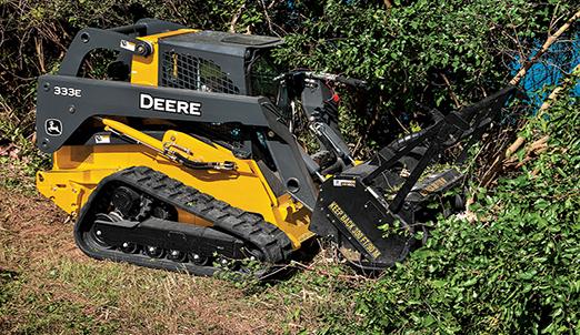 Hydro ax brush mower
